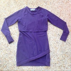 Latched Mama Purple Nursing Sweatshirt XS